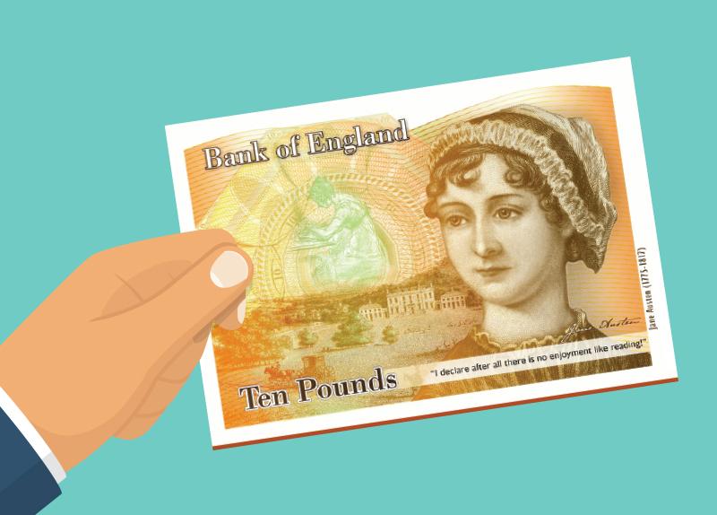 The New Jane Austen £10 Note