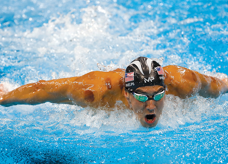 Michael Phelps vs. A Great White Shark0