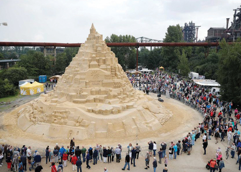 The World's Tallest Sandcastle