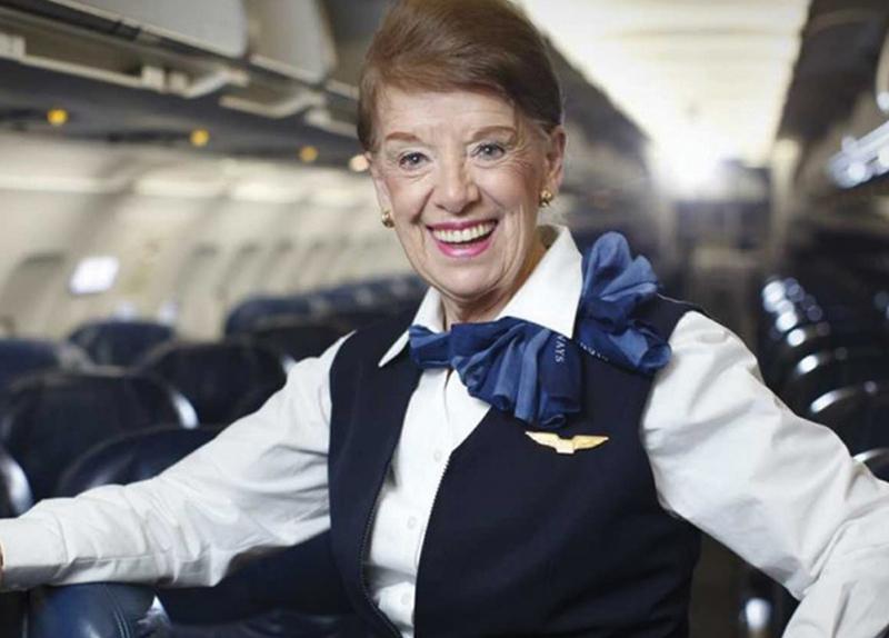 The Oldest Flight Attendant