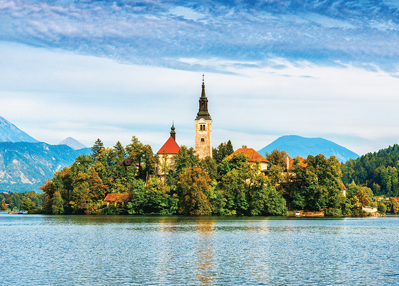Lake And Town Bled0