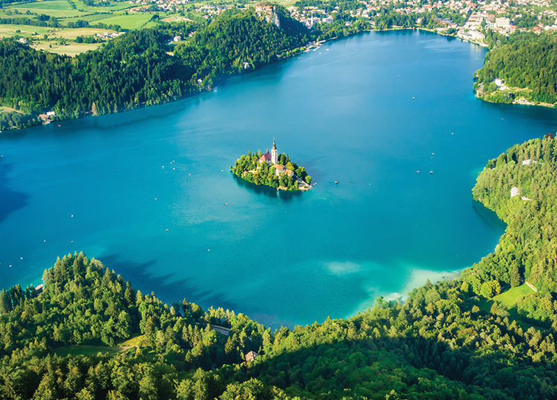 Lake And Town Bled3