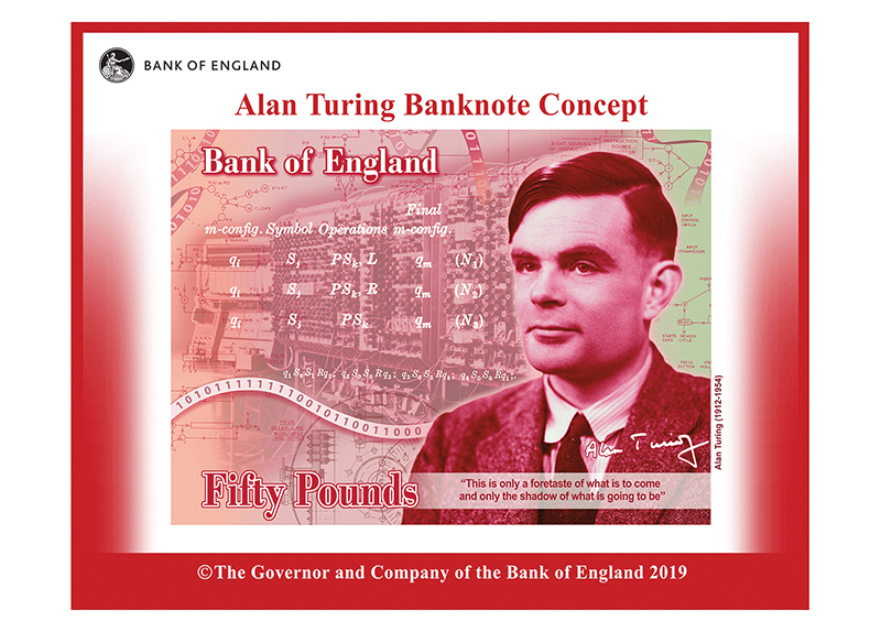 Alan Turing Will Be on England's New 50-Pound Bill