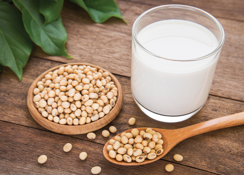 Soy Milk Versus Almond Milk0