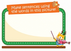 Make sentences using the words in this picture! - Picture Vocabulary