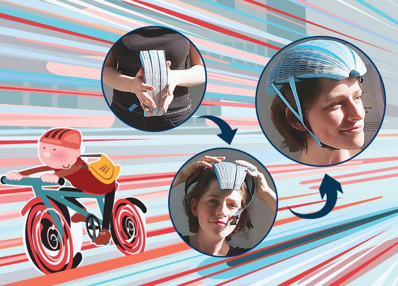The Folding Paper Bike Helmet0