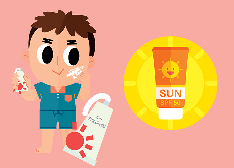 Sunblock Turns Pink When Wearing Off