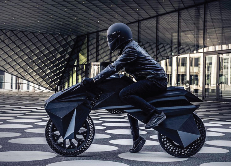 The World's First Fully 3D-Printed Electric Motorcycle	0
