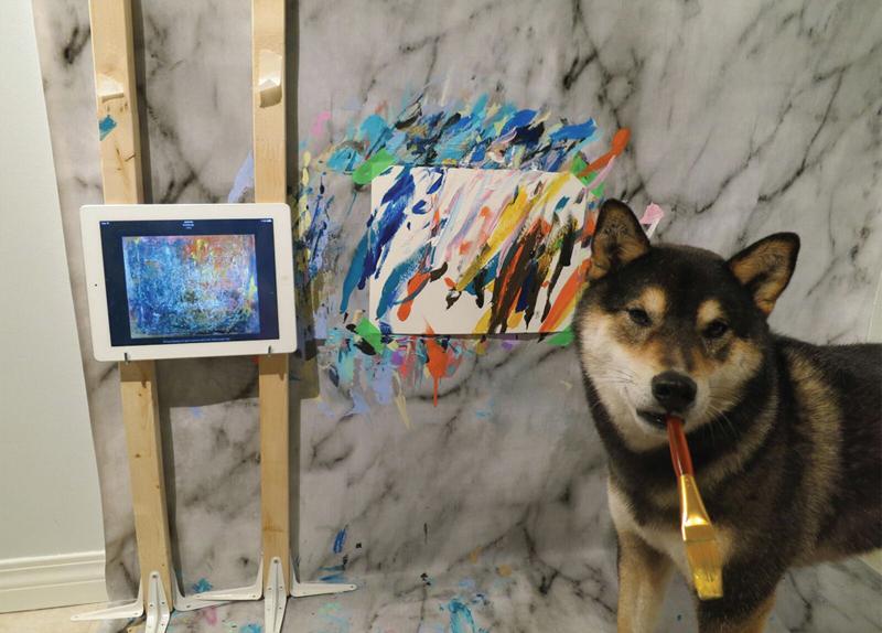 Hunter, The Painting Shiba Inu0