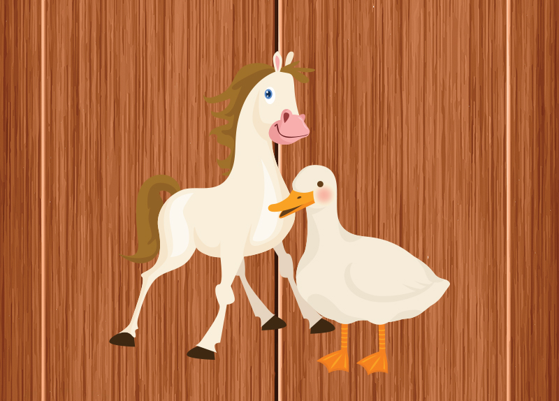 A Horse and Goose's Friendship3