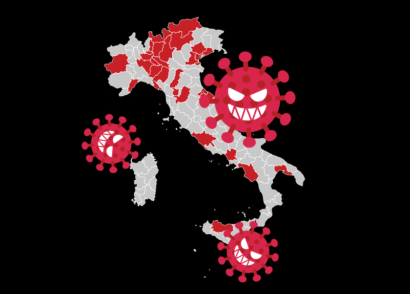 Italy Sees the Largest Number of Infections in Europe0