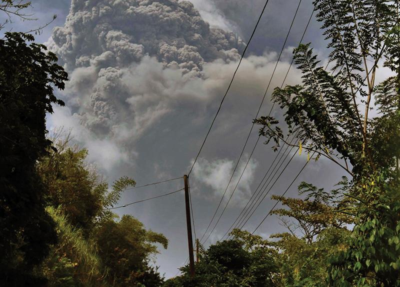 Active Volcano Devastates Caribbean Island St. Vincent0