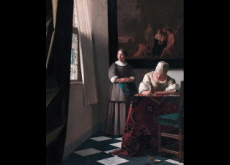 Lady Writing a Letter With Her Maid - Arts