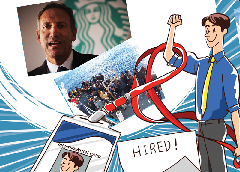 Starbucks to Hire 10,000 Refugees0
