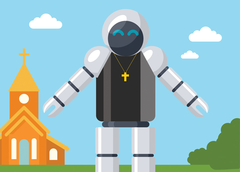 Robot Priest In Germany0