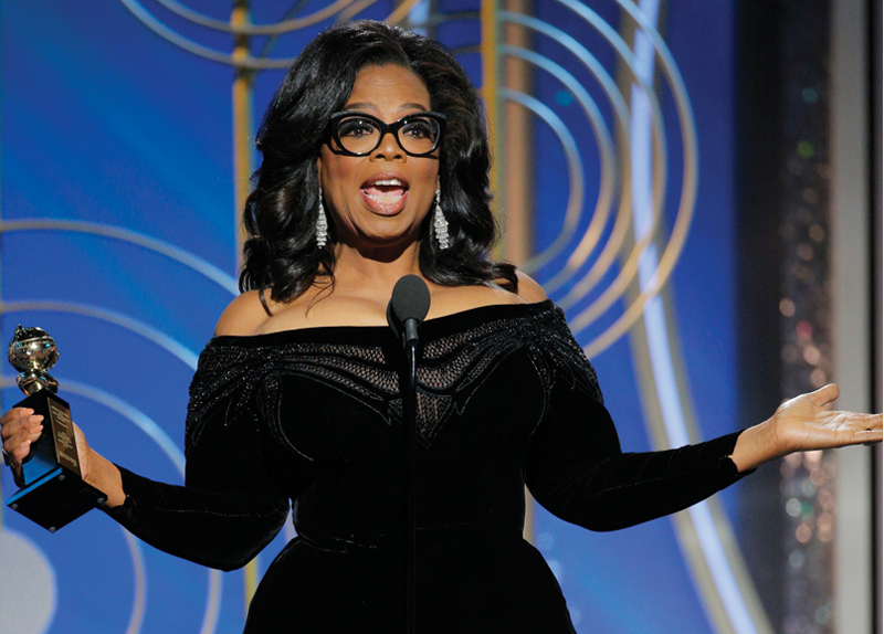 OPRAH WINFREY'S GROUND-BREAKING SPEECH AT THE GOLDEN GLOBES0