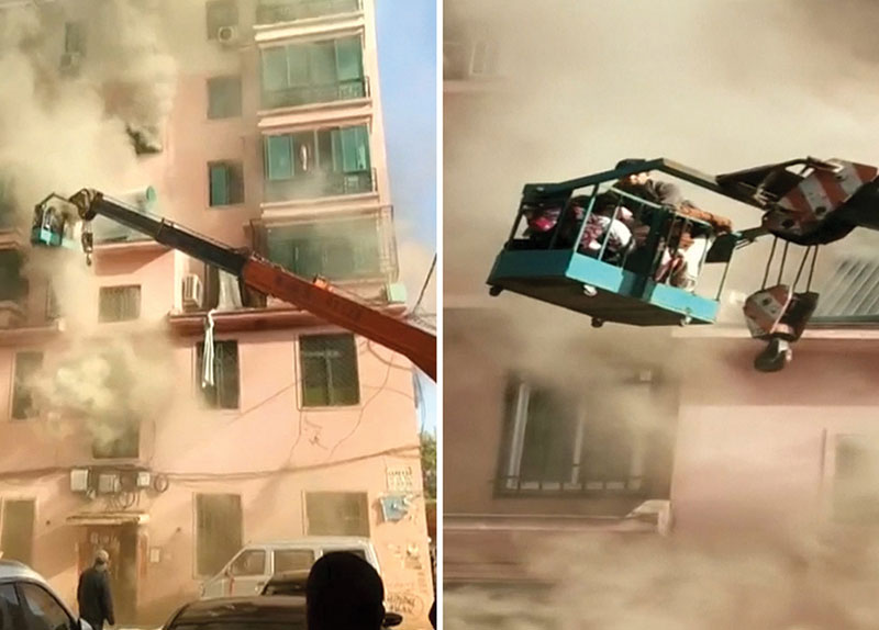 Teen Crane Operator Saves 14 Trapped in Fire