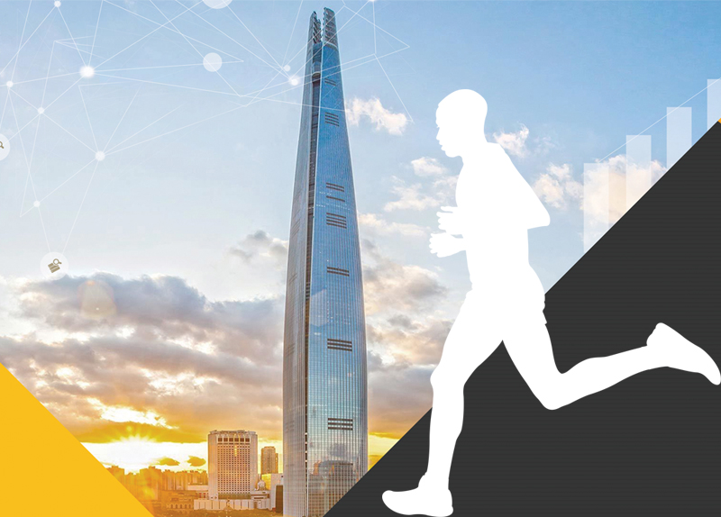 Marathoners Race Up Lotte World Tower's 2,917 Stairs - World on the Move