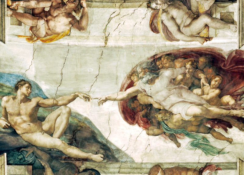 Creation Of Adam And Triumph Of Galatea - Arts